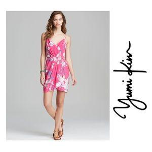 Yumi Kim Jayne pink floral silk slip Dress S